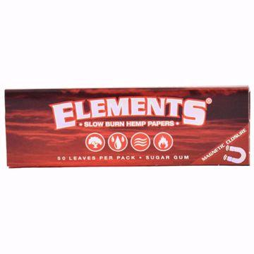 ELEMENT'S RED 1 1/4 SIZE SLOW BURN HEMP PAPERS