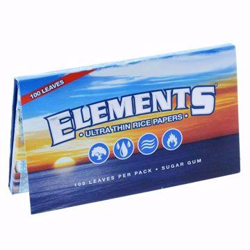 ELEMENT'S SINGLEWIDE DOUBLE WINDOW ULTRA THIN RICE ROLLING PAPERS