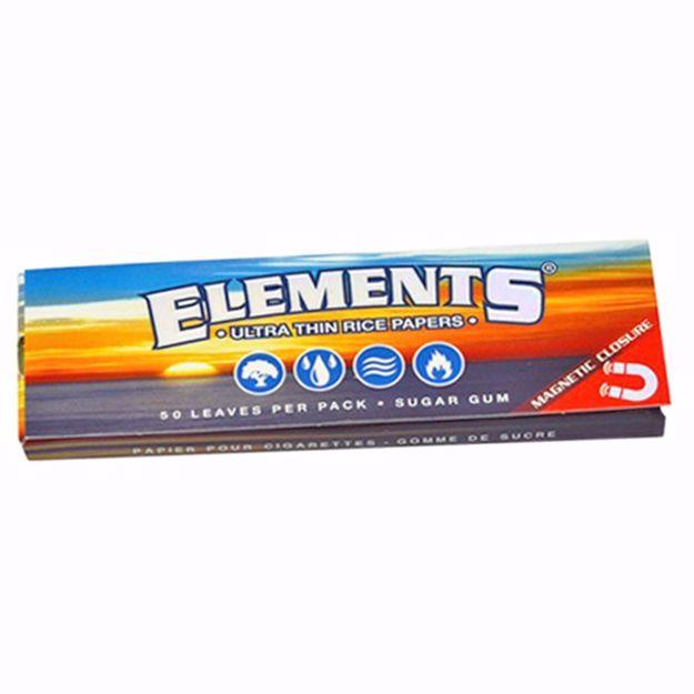 ELEMENT'S 1 1/4 SIZE ULTRA THIN RICE ROLLING PAPERS