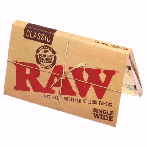 RAW CLASSIC SINGLEWIDE DOUBLE WINDOW NATURAL UNREFINED ROLLING PAPERS