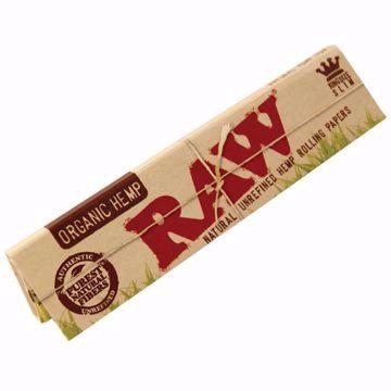 RAW ORGANIC HEMP KING SIZE SLIM NATURAL UNREFINED ROLLING PAPERS