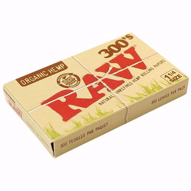 RAW ORGANIC HEMP 1 1/4 SIZE 300's NATURAL UNREFINED ROLLING PAPERS