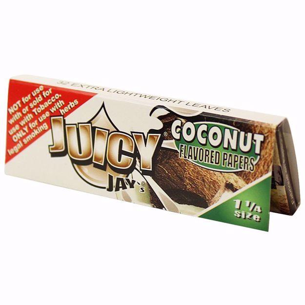 JUICY JAY'S 1 1/4 SIZE COCONUT FLAVORED ROLLING PAPERS