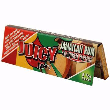 JUICY JAY'S 1 1/4 SIZE JAMAICAN RUM FLAVORED ROLLING PAPERS