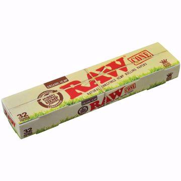 RAW ORGANIC HEMP KING SIZE PREROLLED CONES - 32 PACK