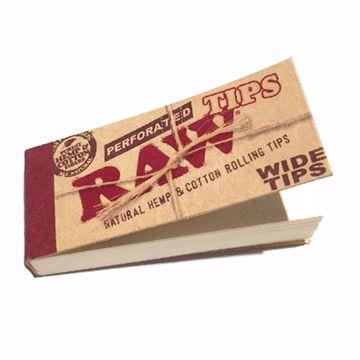 RAW ROLLING TIPS WIDE PERFORATED