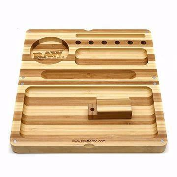 RAW BAMBOO STRIPED BACKFLIP FILLING TRAY W/MAGNETS