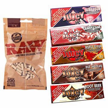 JUICY JAY'S 1 1/4 SIZE SWEET TOOTH SAMPLER BUNDLE WITH FILTERS